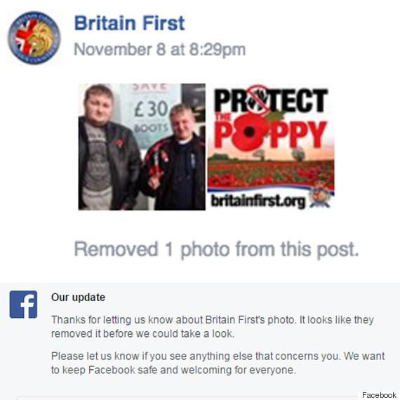 facebook britain first
