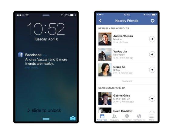 notifications proximite amis facebook