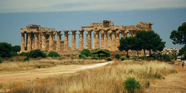 The Acropolis, Selinunte Greek ruins, Sicily.