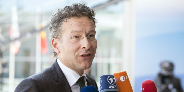 Dutch Minister of Finance,Jeroen Dijsselbloem talks to the press as he arrives for an informal economic and financial affairs council (ECOFIN) on September 11, 2015, at the European Council in Luxembourg. AFP PHOTO  /  THIERRY MONASSE        (Photo credit should read THIERRY MONASSE/AFP/Getty Images)