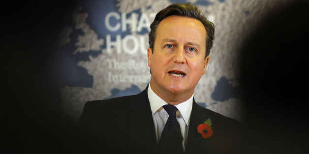 Prime Minister David Cameron delivers a speech on EU renegotiation, at Chatham House in London.