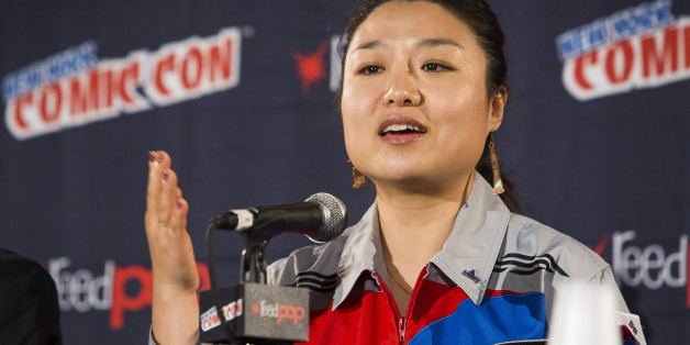 IMAGE DISTRIBUTED FOR DISCOVERY COMMUNICATIONS - Astronaut Soyeon Yi speaks at the Science Channel Secret Space Escapes panel during Comic-Con on Saturday, Oct. 10, 2015 in New York. (Mark Von Holden/AP Images for Discovery Communications)
