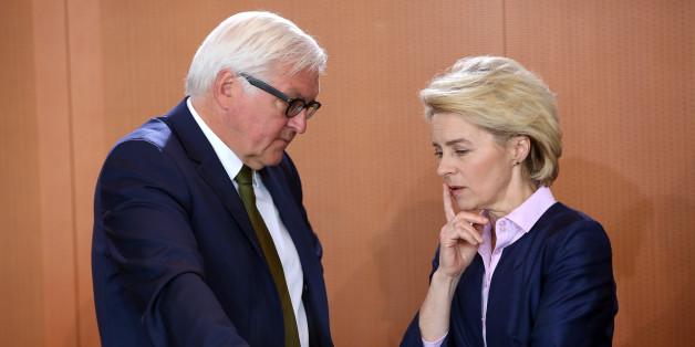 Frank-Walther Steinmeyer und Ursula von der Leyen