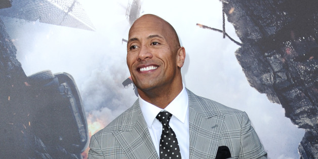 "Dwayne Johnson arrives at the World Premiere Of ""San Andreas"" held at TCL Chinese Theatre on Tuesday, May 26, 2015, in Los Angeles. (Photo by Richard Shotwell/Invision/AP)"