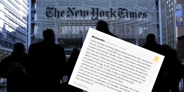 Le beau commentaire d'un lecteur du New York Times sur les attentats de Paris a touché les internautes français.