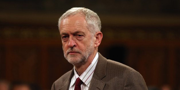 Britain's Labour leader Jeremy Corbyn arrives to listen to China's President, Xi Jinping address members of parliament and peers in Parliament's Royal Gallery, in London, Tuesday, Oct. 20, 2015. (Dan Kitwood/Pool Photo via AP)