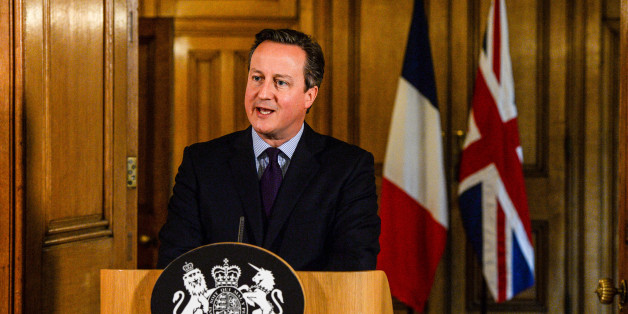 Prime Minister David Cameron speaks in the State Dining Room of 10 Downing Street, London after chairing an emergency Cobra meeting in the wake of a series of coordinated terrorist attacks in Paris on Friday night, which left at least 127 people dead and over 200 injured.