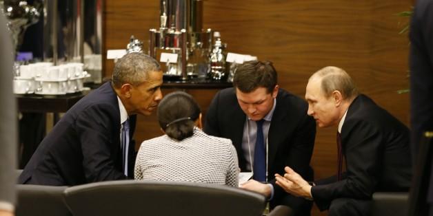 Vladimir Poutin et Barack Obama se sont isolés du reste des dirigeants du monde pour un aparté de 35 minutes