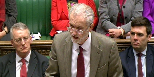 Labour leader Jeremy Corbyn speaking about the Paris attacks in the House of Commons, London.