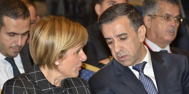 Ali Haddad à côté d'Anne Lauvergeon, présidente Comité innovation 2030 en France