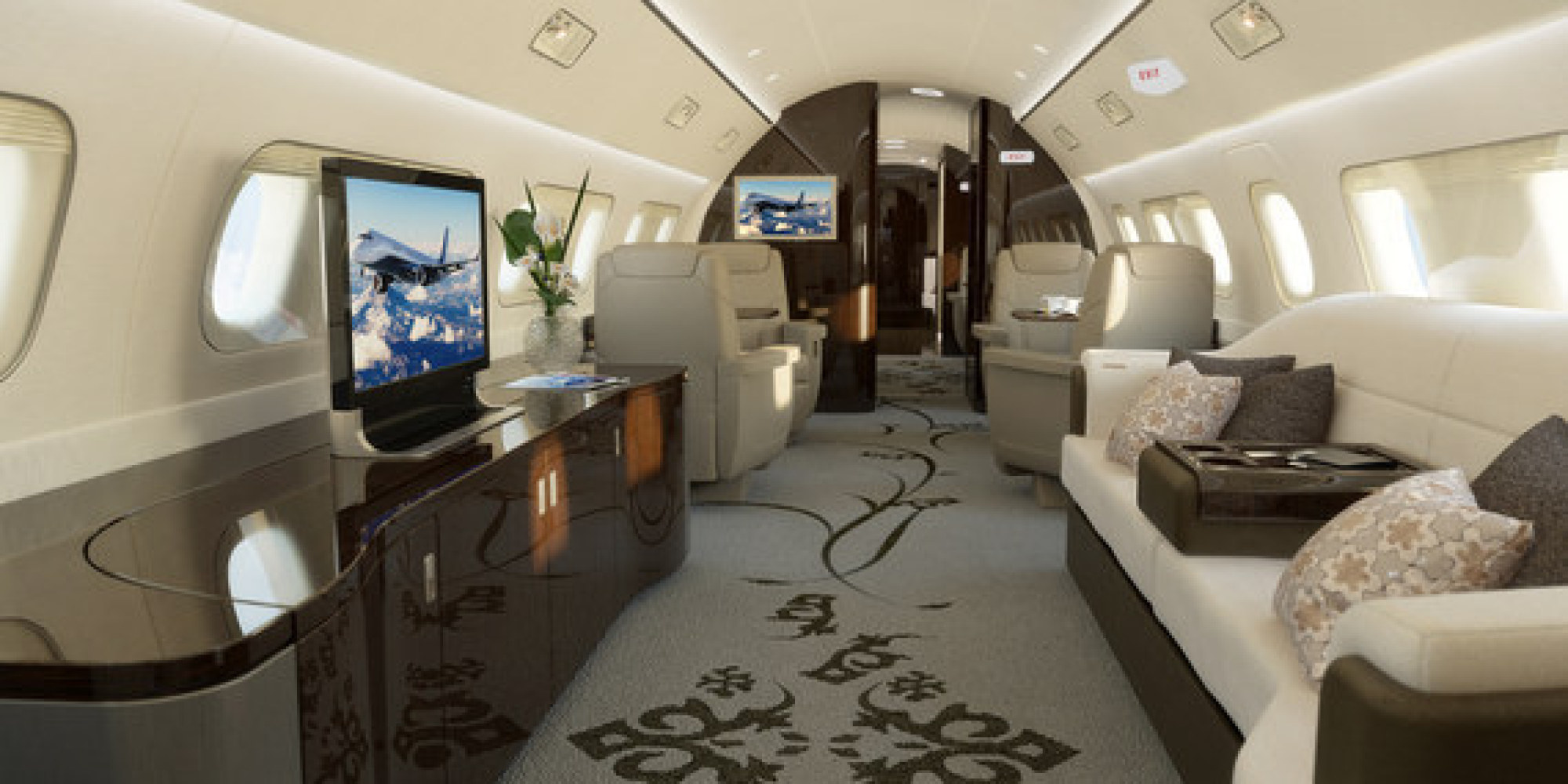 this is what the inside of a 53 million jet looks like