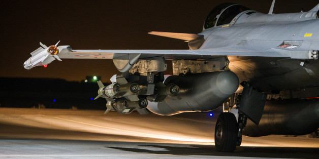 This photo released on Tuesday, Nov. 17, 2015 by the French Army Communications Audiovisual office (ECPAD) shows a French army Rafale jet on the tarmac of an undisclosed air base as part of France's Operation Chammal launched in September 2015 in support of the US-led coalition against Islamic State group. France launched fresh airstrikes on the Islamic State stronghold of Raqqa in Syria days after attacks in Paris linked to the group killed at least 129 people. French military spokesman Col. Gi