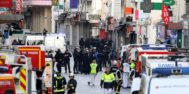 SAINT-DENIS, FRANCE - NOVEMBER 18:  View of  'rue de la republique' close to where the police raid occured earlier on November 18, 2015 in Saint-Denis, France. French Police special forces raided an apartment, hunting those behind the attacks that claimed 129 lives in the French capital five days ago. At least one person was killed in an apartment targeted during the operation aimed at the suspected mastermind of the attacks, Belgian Abdelhamid Abaaoud. At least five police officers have been wounded in the shootout. (Photo by Pierre Suu/Getty Images)