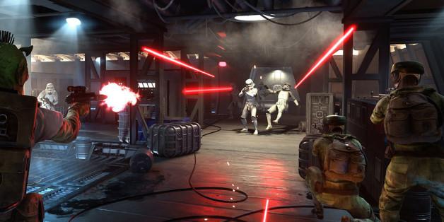 """So könnte ein typisches Mehrspieler-Gefecht in """"Star Wars Battlefront"""" aussehen"""