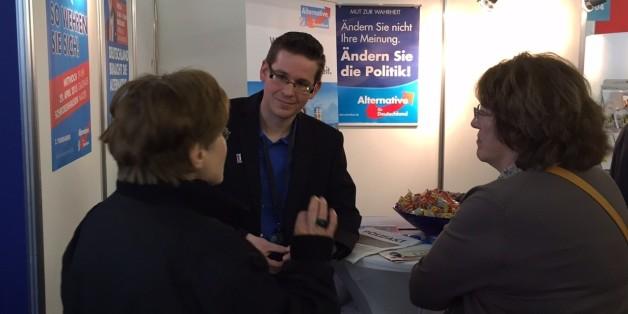 Andreas Strixner bei einer Messe Anfang des Jahres in München. Damals ging es noch nicht um Flüchtlinge.