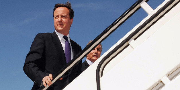 File photo dated 24/06/10 of Prime Minister David Cameron boarding a plane bound for Canada, as Mr Cameron and other senior ministers are to get a dedicated aircraft to take them on official visits around the world.