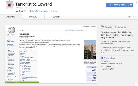 terrorist to coward