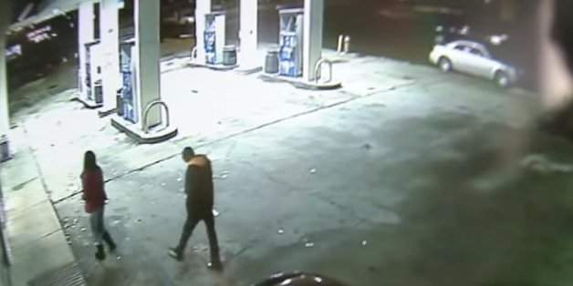 Überwachungsvideo der Tankstelle