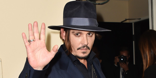 Johnny Depp poses in the press room at the Hollywood Film Awards at the Beverly Hilton Hotel on Sunday, Nov. 1, 2015, in Beverly Hills, Calif. (Photo by Jordan Strauss/Invision/AP)