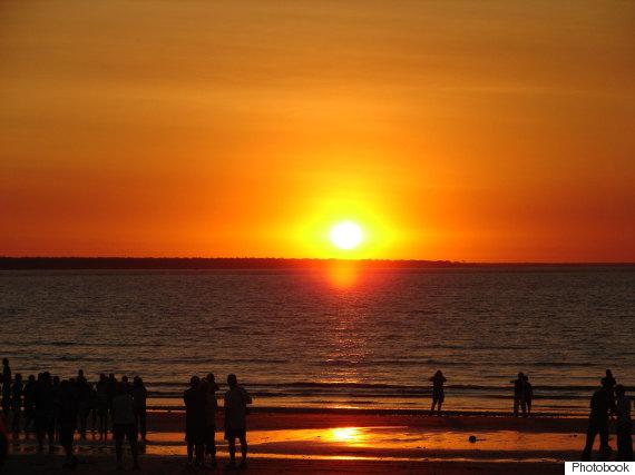 darwin australia sunset orange