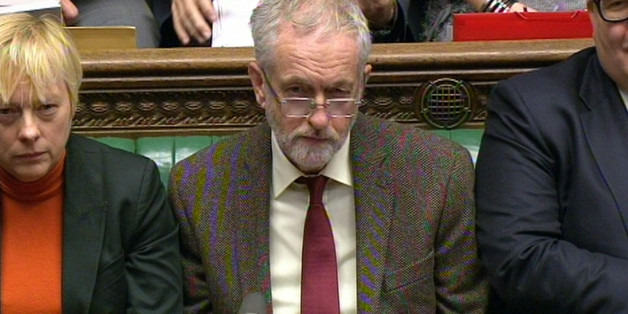 Labour party leader Jeremy Corbyn during Prime Minister's Questions in the House of Commons, London.