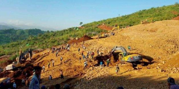 Plus de 100 morts dans un glissement de terrain en Birmanie