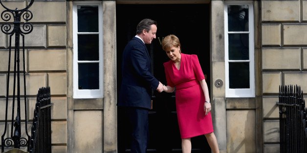 British Prime Minster David Cameron meets with Scottish First Minister and leader of the SNP Nicola Sturgeon in May