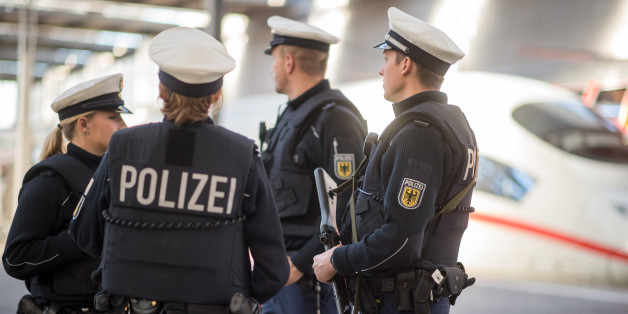 Am Limit: ein deutscher Polizist.