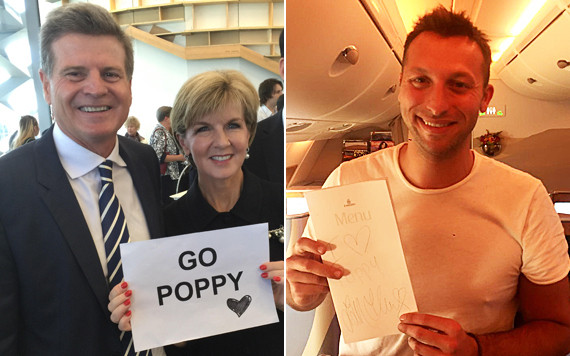 julie bishop ian thorpe go poppy