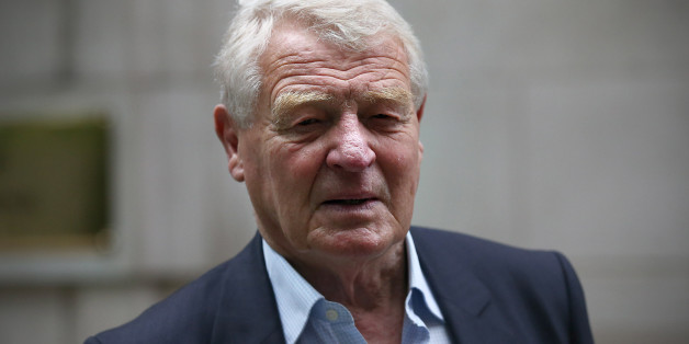LONDON, ENGLAND - JUNE 02:  Former Liberal democrat leader Paddy Ashdown leaves after attending a television interview to discuss the death of colleague Charles Kennedy on June 2, 2015 in London, England. Former Liberal Democrat Party leader Mr Kennedy passed away unexpectedly at his home in Fort William aged 55.  (Photo by Carl Court/Getty Images)