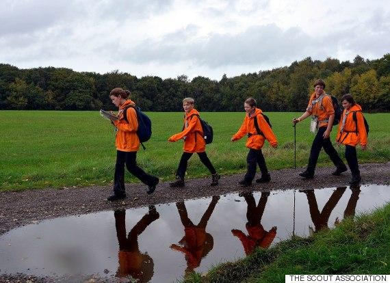 scouts walking
