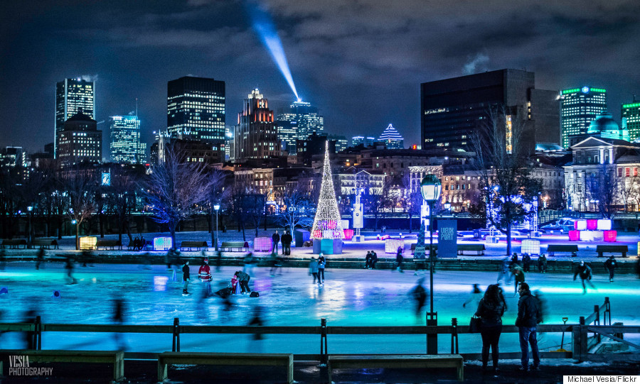 skating montreal winter