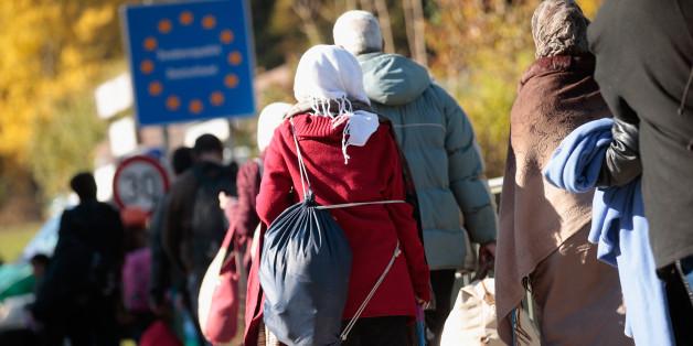 Flüchtlinge an der Grenze zu Deutschland