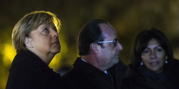 Bundeskanzlerin Angela Merkel gestern in Paris