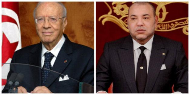 Mohammed VI s'entretient avec le président tunisien après l'attentat de Tunis