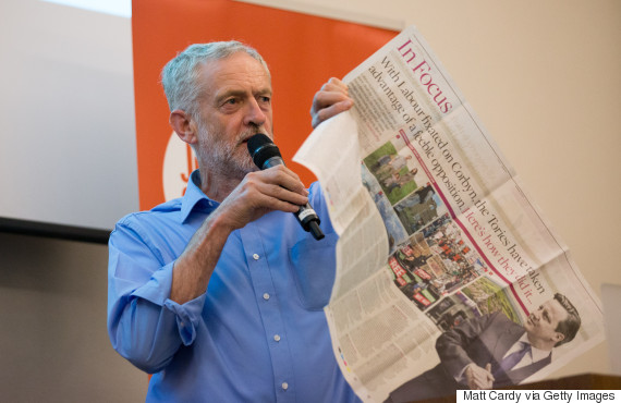jeremy corbyn newspapers