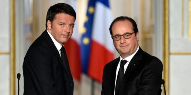 Matteo Renzi et François Hollande à l'Elysée le 26 novembre 2015