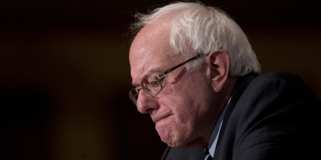 "Democratic presidential candidate Sen. Bernie Sanders, I-Vt., pauses as he speaks at Georgetown University in Washington, Thursday, Nov. 19, 2015, about the meaning of ""democratic socialism"" and other topics. (AP Photo/Carolyn Kaster)"