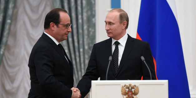 François Hollande und Wladimir Putin gestern abend
