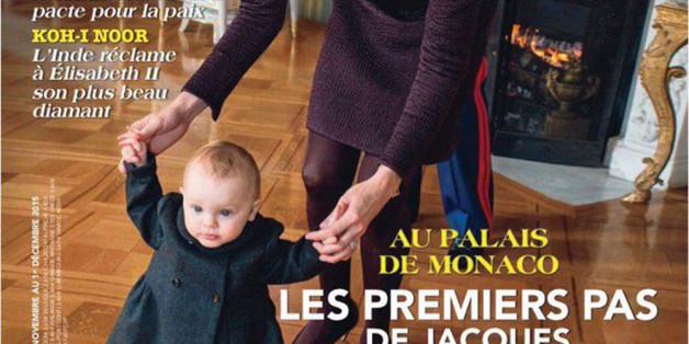 """Auf dem Cover des französischen Magazins """"Point de Vue"""": Prinzessin Gabriella bei ersten Gehversuchen"""