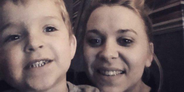 Sophie Jackson und ihr Sohn