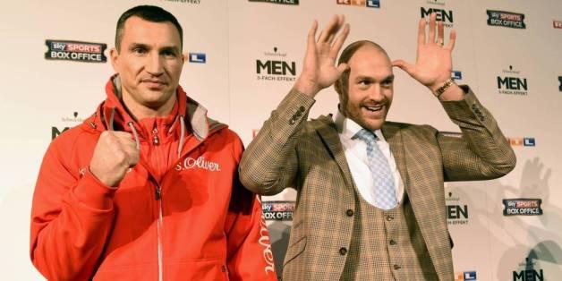 Wladimir Klitschko (l.) und sein Herausforder Tyson Fury