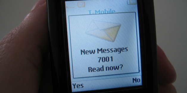 """I haven't had my coffee yet, now I find 7001 new messages? No it turns out I have one text message from t-mobile, who reports themselves with the name """"7001"""".. thanks t-mobile."""