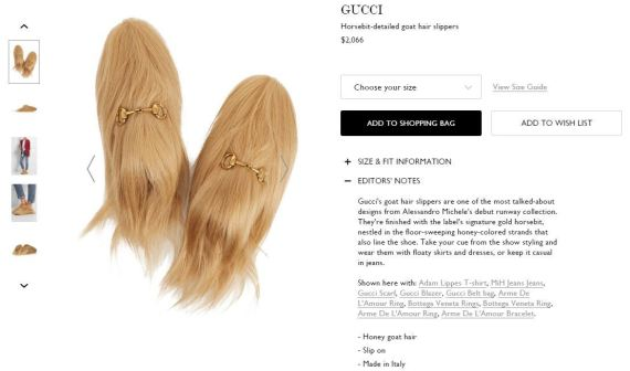 130a8b4fe2262f You Can Now Buy These Ridiculous Gucci Goat Hair Slippers For  2