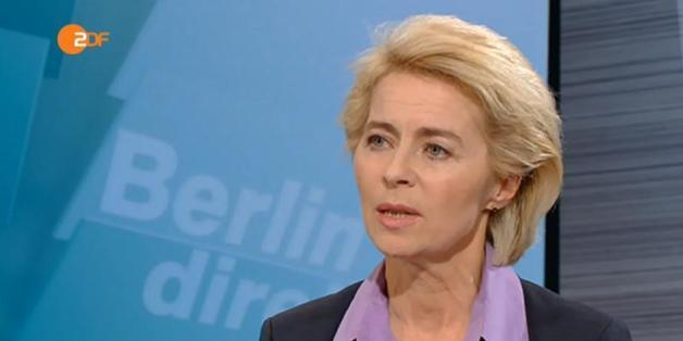 """Ursula von der Leyen in der ZDF-Sendung """"Berlin direkt"""""""