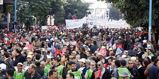Casablanca: Quatre centrales syndicales manifestent contre la politique du gouvernement