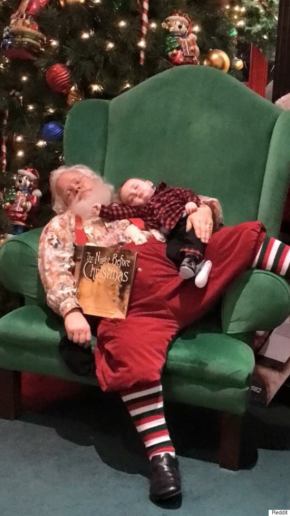 sleepy santa photo