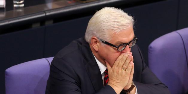 Außenminister Frank Walther Steinmeier im Bundestag