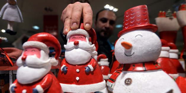 MADRID, SPAIN - DECEMBER 20: Noel trinkets are seen as Spanish people start their Christmas preparation and shopping at a bazaar selling Christmas goods in Madrid, Spain on December  20, 2014.  (Photo by Evrim Aydin/Anadolu Agency/Getty Images)