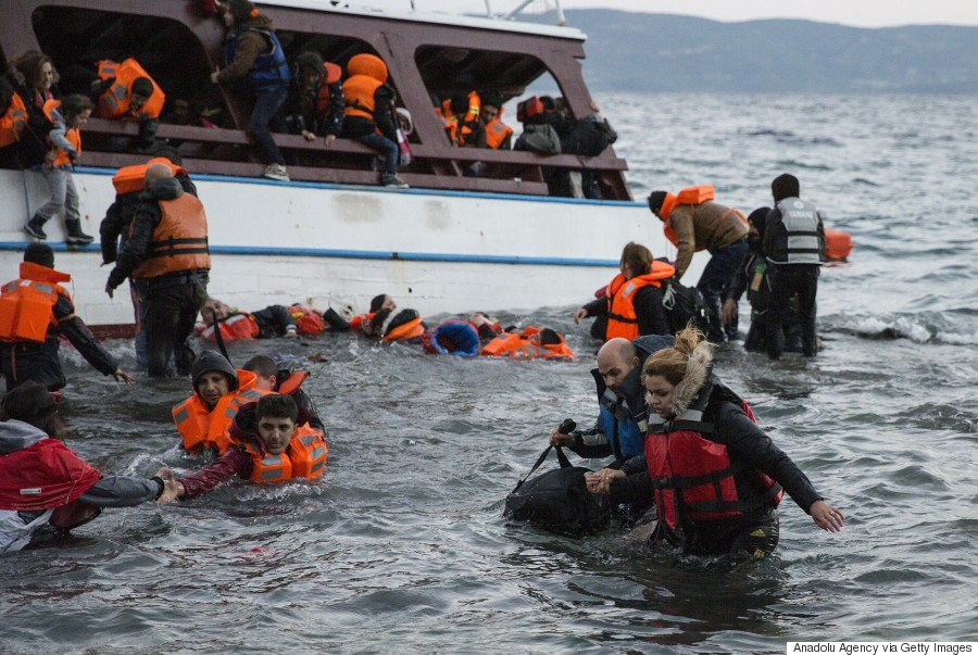 migrants lesvos